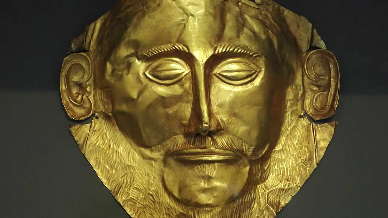 Mask of agamemnon, from shaft grave v, grave circle a, mycen.